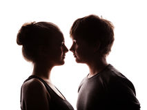 Couple of the young in love Royalty Free Stock Photo