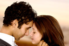 Couple of young lovers Stock Photos