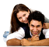 Couple of young lovers Royalty Free Stock Photo