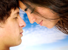 Couple of young lovers Royalty Free Stock Images