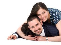 Couple of young lovers Royalty Free Stock Photos