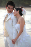 Couple of young man and woman in wedding suit Royalty Free Stock Images