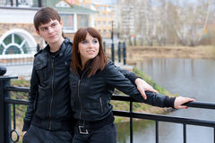 Couple of young people Royalty Free Stock Photos