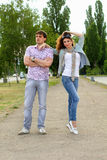 Couple of young people Stock Images