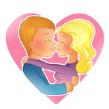 Couple young people kissing Stock Photography
