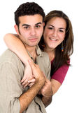 Couple of young people portrait Royalty Free Stock Photography