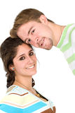 Couple of young people portrait Stock Photos