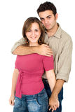 Couple of young people portrait Stock Image