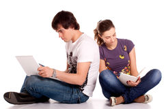 Couple young student Royalty Free Stock Photo