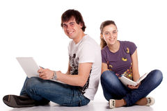 Couple young student Stock Image