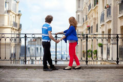 Couple of young tourists on Montmartre Stock Images