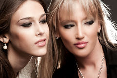Couple of young women Royalty Free Stock Photo
