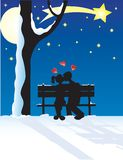Couple at yuletide Stock Photos