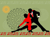 couple1 χορεύοντας σκιαγραφία στοκ εικόνες με δικαίωμα ελεύθερης χρήσης