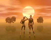 couple2 χρυσός Στοκ Εικόνα