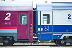 Coupled train Royalty Free Stock Image