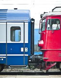 Coupled train cars Royalty Free Stock Photography