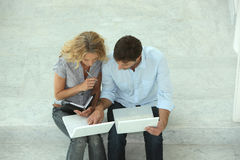 Coupleon laptops Stock Images