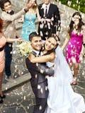 Couples à épouser extérieur. Photographie stock libre de droits