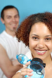 Couples à la gymnastique Photos libres de droits