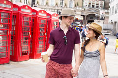 Couples à Londres Image libre de droits