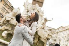 Couples à Rome Images libres de droits