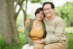 Couples âgés heureux Photographie stock