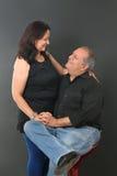 Couples âgés par milieu images libres de droits