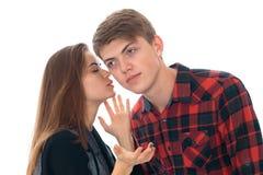 Couples élégants dans l'amour dans le studio Photo libre de droits