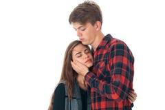 Couples élégants dans l'amour dans le studio Photo stock