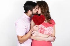 Couples élégants heureux dans l'amour Image stock