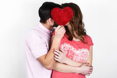 Couples élégants heureux dans l'amour Photos stock