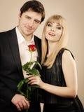 Couples élégants la date parfaite Images libres de droits