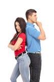 Couples étés en conflit ne parlant pas entre eux Image libre de droits
