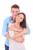 Couples étreignant un jour de valentines Photos stock