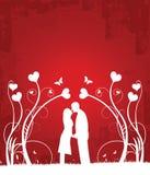 Couples 2 de baiser illustration de vecteur
