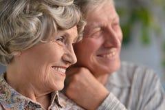Couples aînés à la maison Images libres de droits