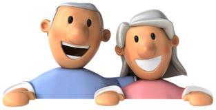 Couples aînés illustration de vecteur