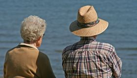 Couples aînés Photographie stock libre de droits