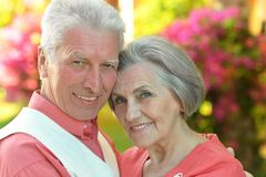 Couples aînés affectueux Photos stock