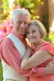 Couples aînés affectueux Photos libres de droits