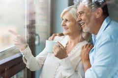 Couples aînés affectueux Photographie stock libre de droits
