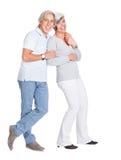 Couples aînés affectueux heureux Images stock