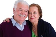 Couples aînés affectueux heureux Photo stock