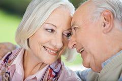 Couples aînés affectueux regardant l'un l'autre Images stock