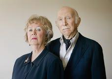 Couples aînés arrogants Image libre de droits