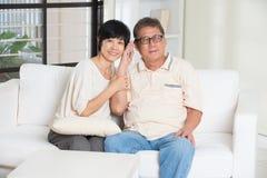 Couples aînés asiatiques Photos libres de droits