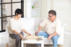Couples aînés asiatiques Photos stock