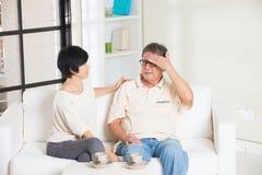 Couples aînés asiatiques photographie stock libre de droits