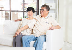 Couples aînés asiatiques Image stock